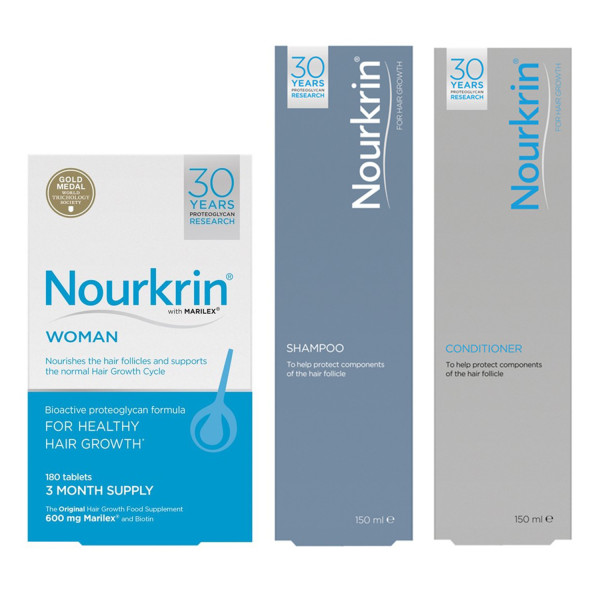 Nourkrin Woman Hair Growth Programme (Free Shampoo and Conditioner)