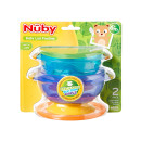 Nuby Stackable Suction Bowls Twin Pack