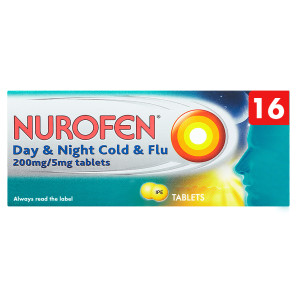 Nurofen Day & Night Cold & Flu 200mg/5mg Tablets