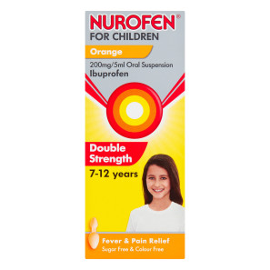 Nurofen Double Strength For Children 7-12 years  Orange Flavour Oral Suspension