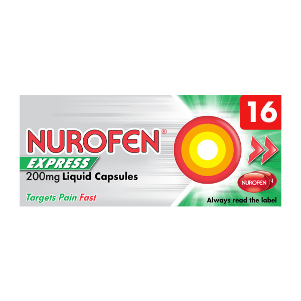 Nurofen Express 200mg Liquid Capsules