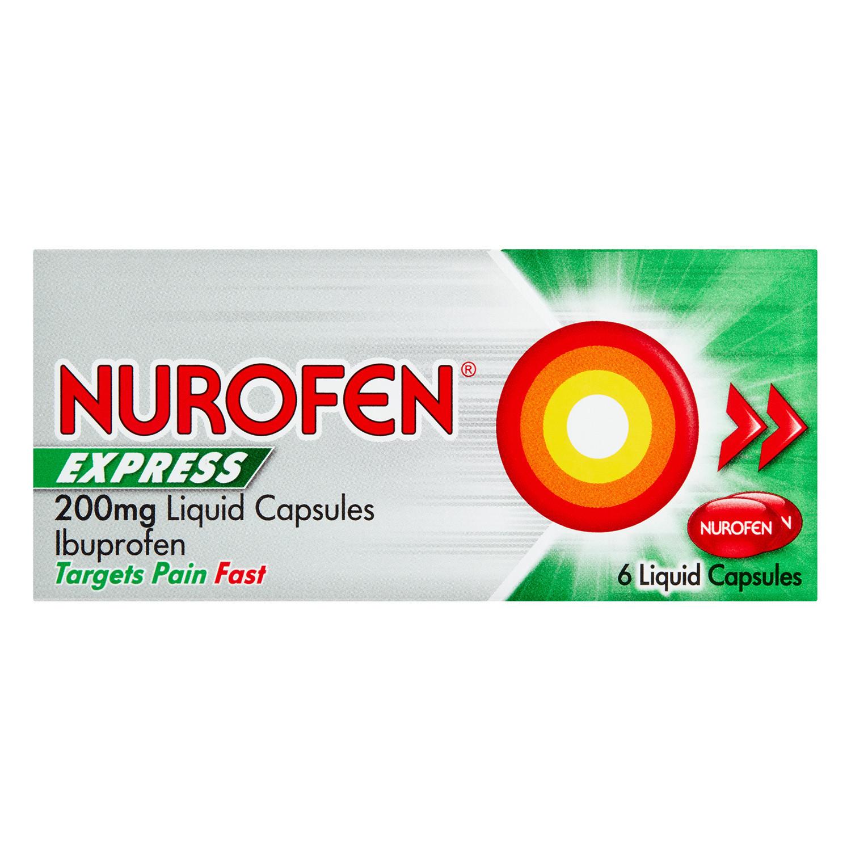 Nurofen Express 200mg Liquid Capsules