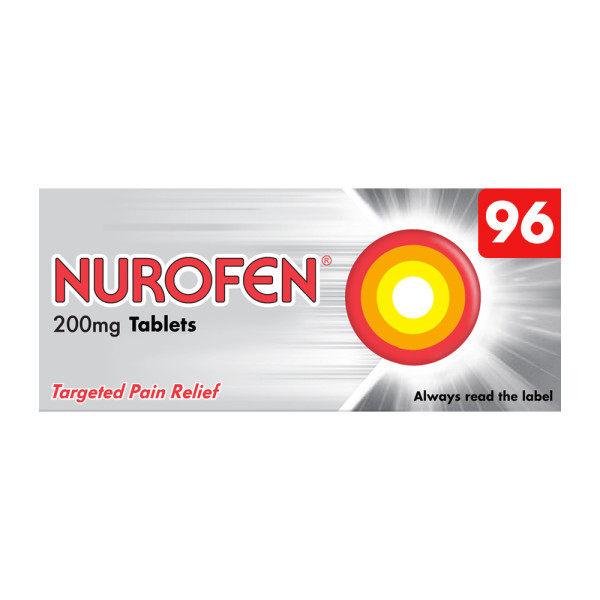 Nurofen Ibuprofen 200mg Tablets for Headaches & Pain Relief