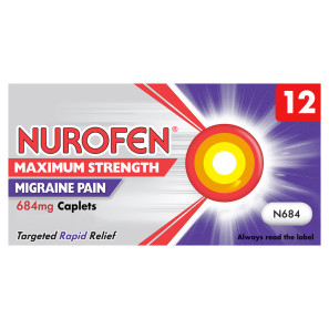 Nurofen Maximum Strength Migraine Pain 684mg Caplets