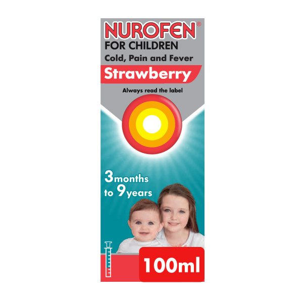 Nurofen For Children Cold, Pain, Fever Strawberry Flavour