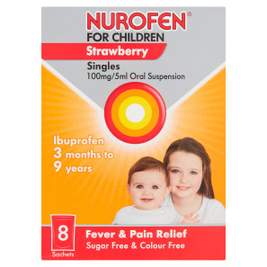 Nurofen for Children Single Sachets Strawberry Flavour