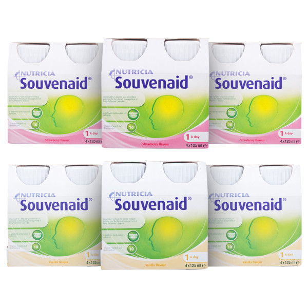 Nutricia Souvenaid Mixed Case Strawberry and Vanilla 24 Bottles