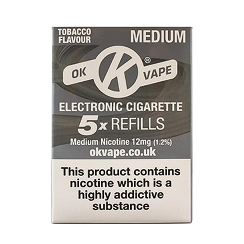 OK Vape Medium Strength Tobacco Refills (12mg)