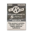 OK Vape Medium Strength Tobacco Refills (12mg)