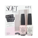 OPI Soft Shades Matte Pink & White Duo