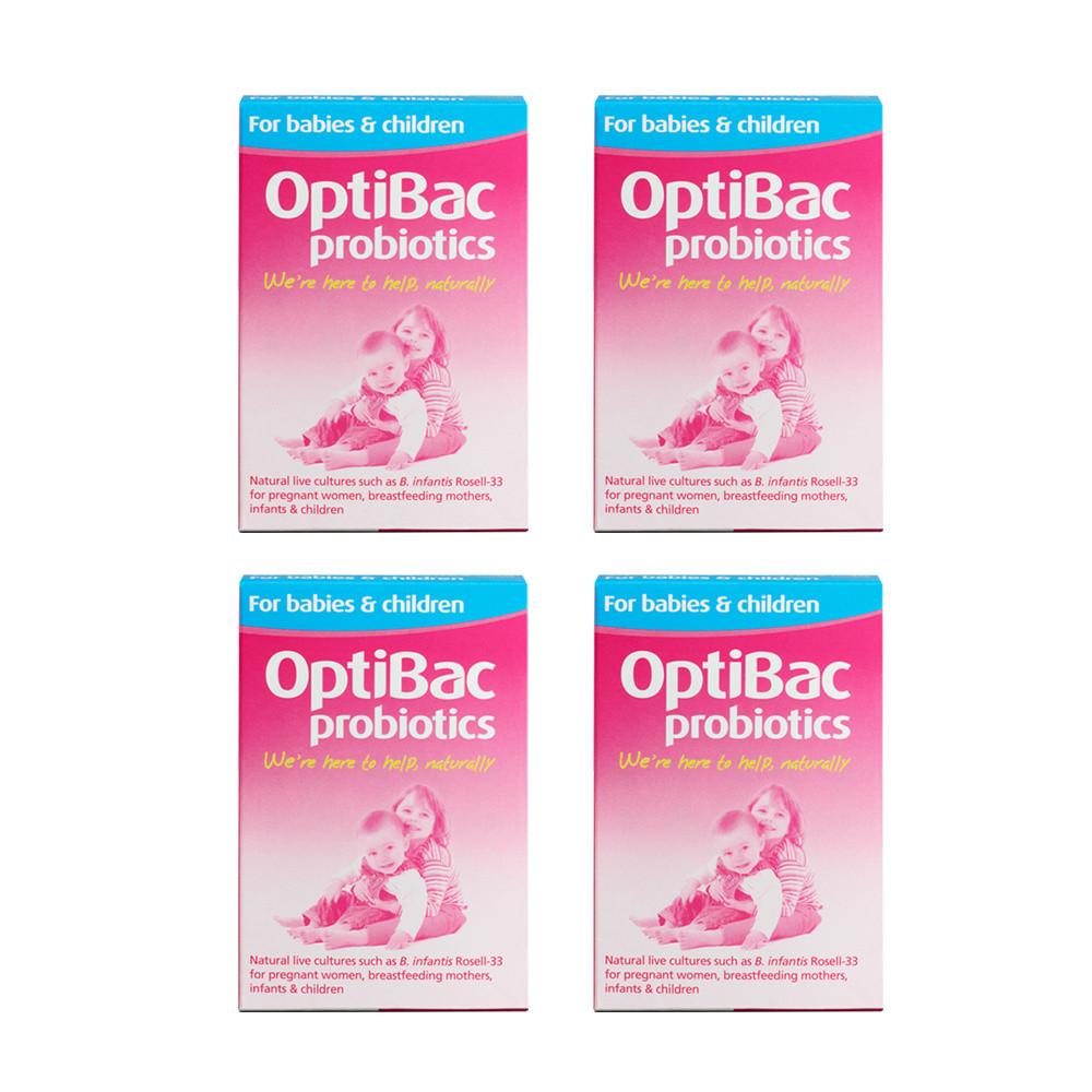 OptiBac Probiotics For Babies And Children x4