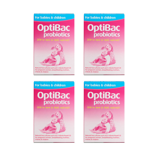 OptiBac Probiotics For Babies And Children x 4