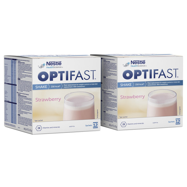 Optifast Instant Shake Strawberry Twin Pack