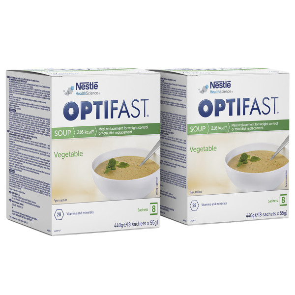 Optifast Instant Vegetable Soup Sachets Twin Pack