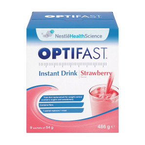 Optifast Strawberry Shake 54g Sachets Pack of 9