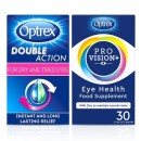 Optrex Eye Health Bundle; ProVision 30 capsules & Double Action Drops for Dry & Tired Eyes