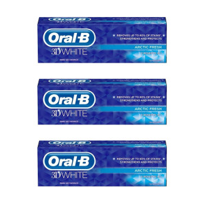 Oral-B 3D White Arctic Fresh Toothpaste Triple Pack