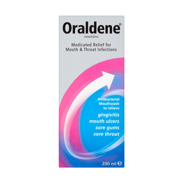 Oraldene Medicated Relief Mouthwash for Mouth & Throat Infections
