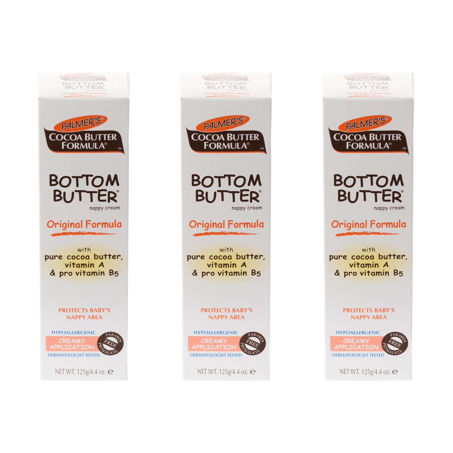 Click to view product details and reviews for Palmers Cocoa Butter Bottom Nappy Rash Triple Pack.