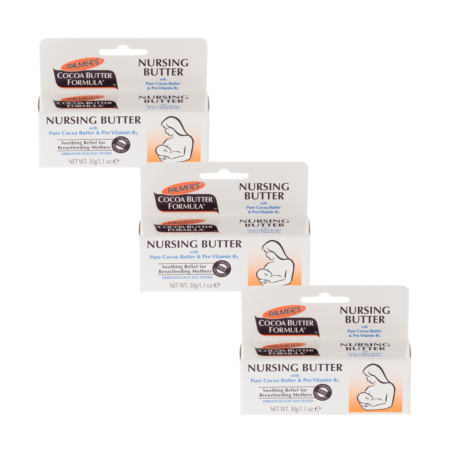 Click to view product details and reviews for Palmers Cocoa Butter Nursing Butter Triple Pack.