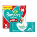 Pampers Baby Dry Pants S5 Jumbo Pack & Wipes