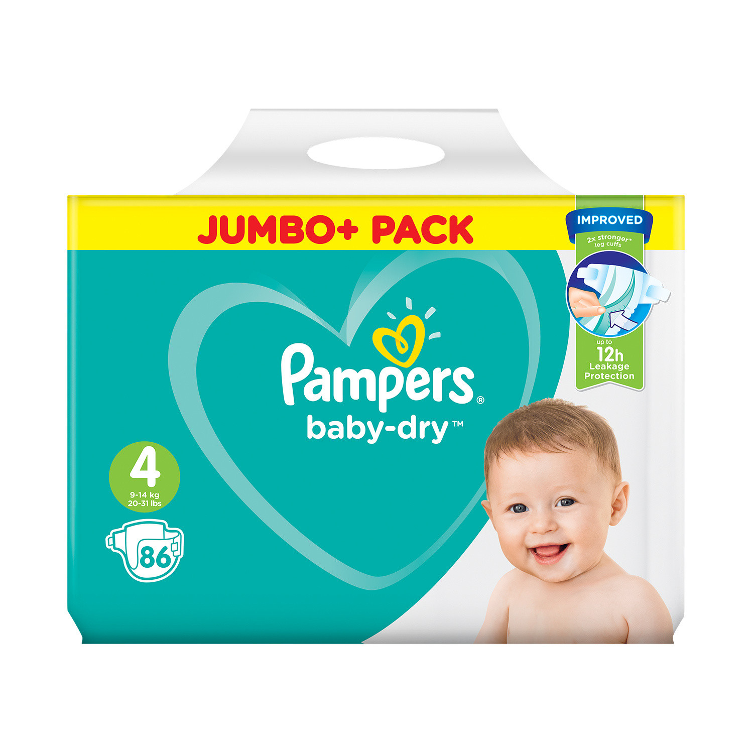 Pampers Baby Dry Size 4 Nappies