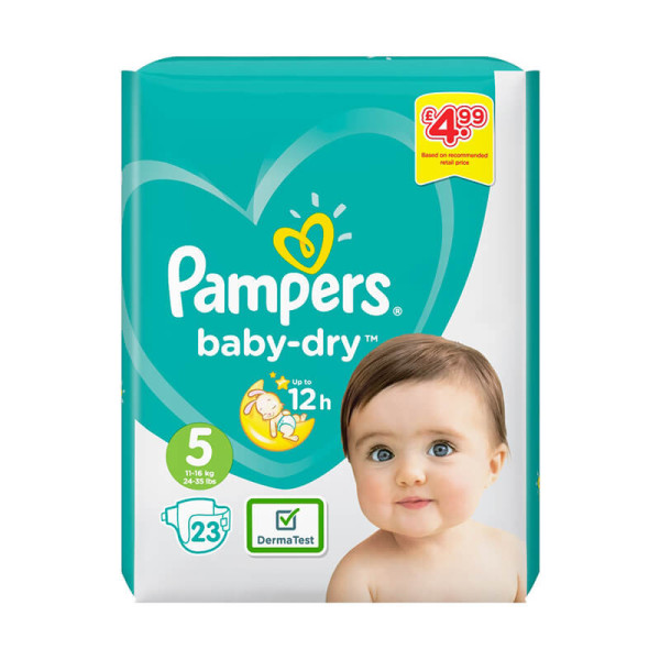 Pampers Baby Dry Size 5 Nappies