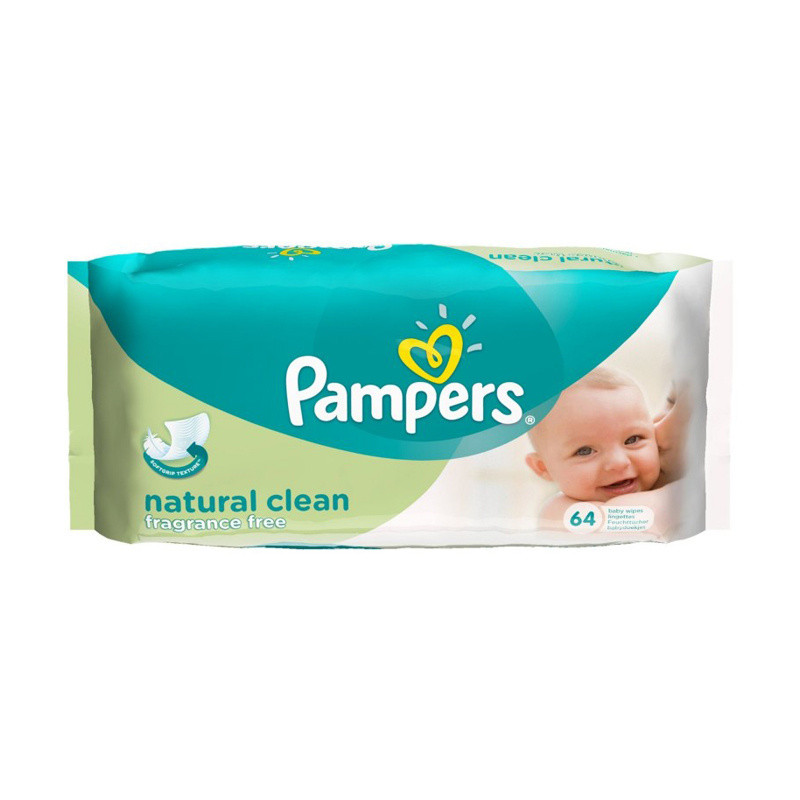 Click to view product details and reviews for Pampers Natural Clean Baby Wipes.