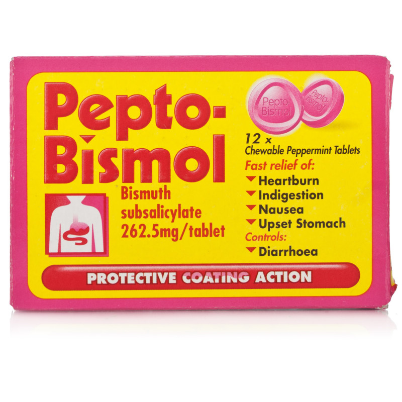 Buy Pepto Bismol Chewable Tablets 12 12 Tablets Chemist Direct