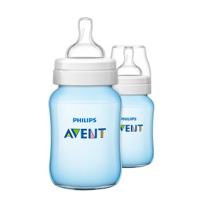 Philips Avent Bottle Classic+ Blue Twin Pack