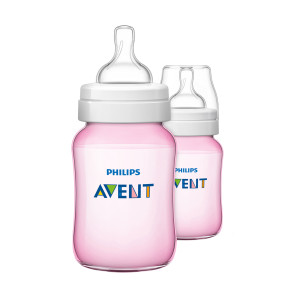 Philips Avent Bottle Classic+ 260ml Pink Twin Pack