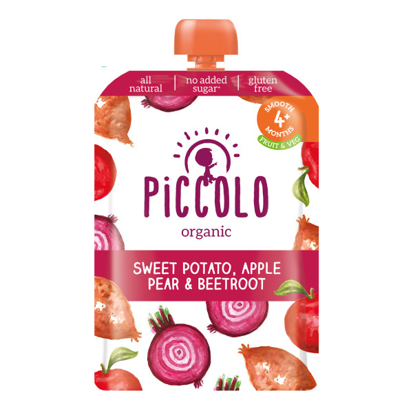 Piccolo Organic Sweet Potato, Apple, Pear & Beetroot 4m+