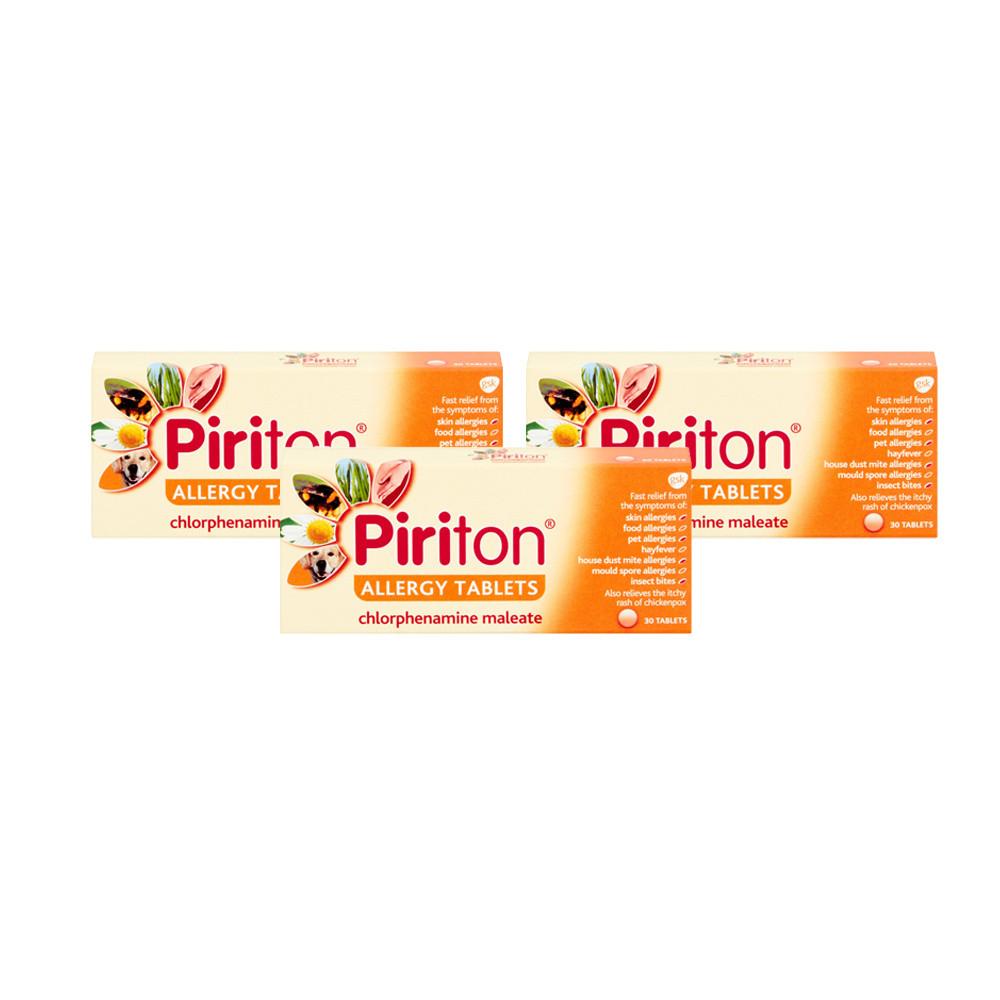 Piriton Allergy Tablets 30's- Triple Pack