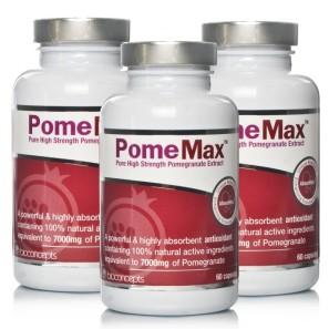PomeMax Pure High Strength Pomegranate Extract Triple Pack