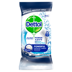 Dettol Power & Pure Bathroom Wipes 30