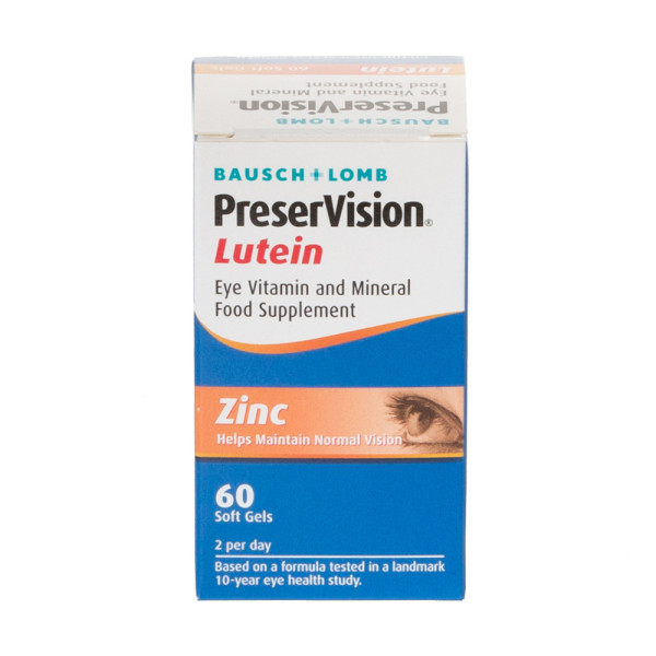 Bausch + Lomb PreserVision Lutein Soft Gels