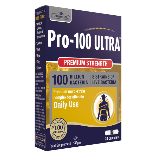 Natures Aid Pro-100 Ultra (100 Billion Bacteria) Capsules