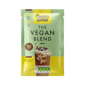 Protein World Vegan Blend Chocolate Sachet Box