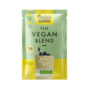 Protein World Vegan Blend Vanilla Sachet Box