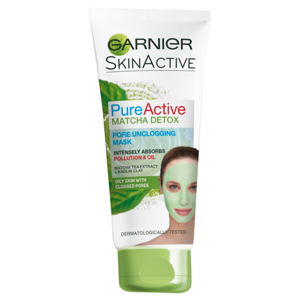 Garnier Pure Active Matcha Detox Pore Unclogging Mask