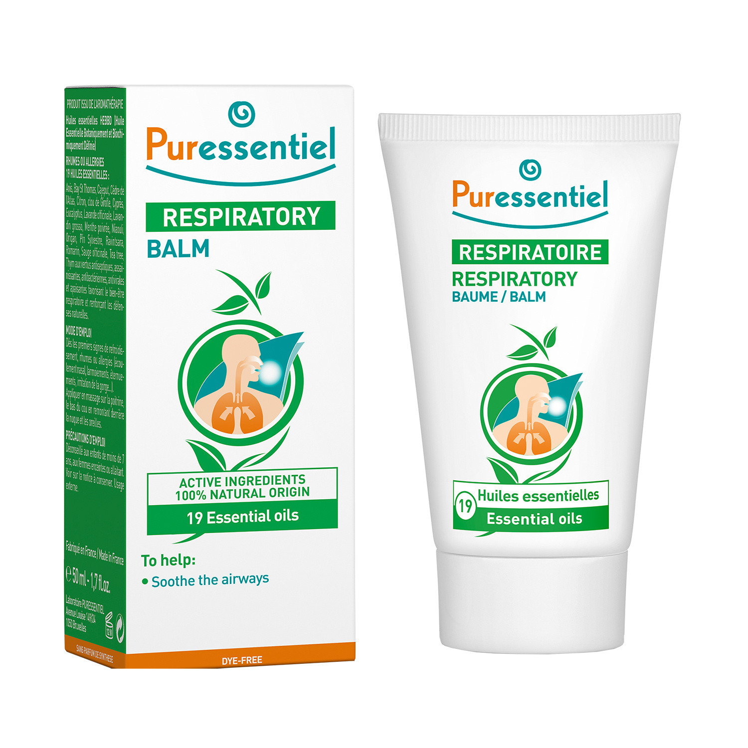 Click to view product details and reviews for Puressentiel Respiratory Balm 50ml.