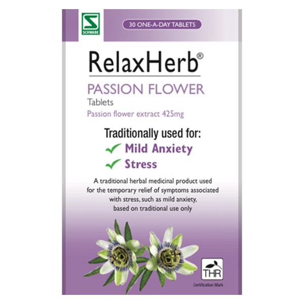RelaxHerb Passion Flower Tablets