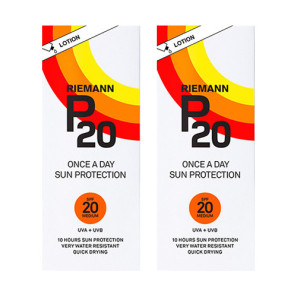 Riemann P20 Once A Day Sun Filter Lotion SPF20 Twin Pack