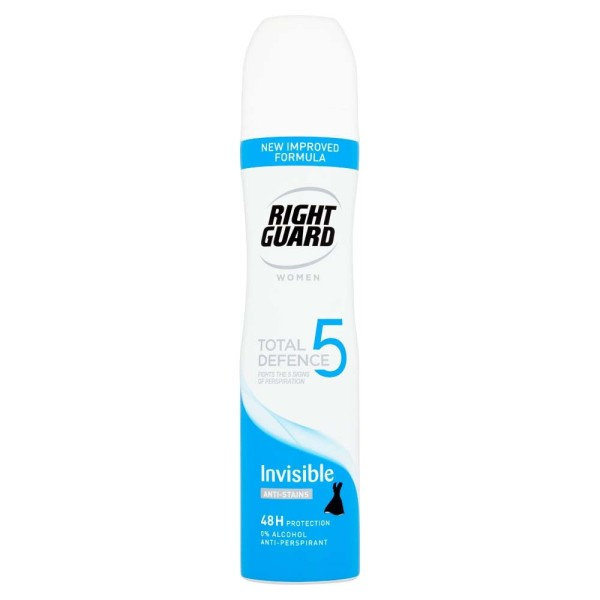 Right Guard Total Defence 5 Woman Invisible Deodorant