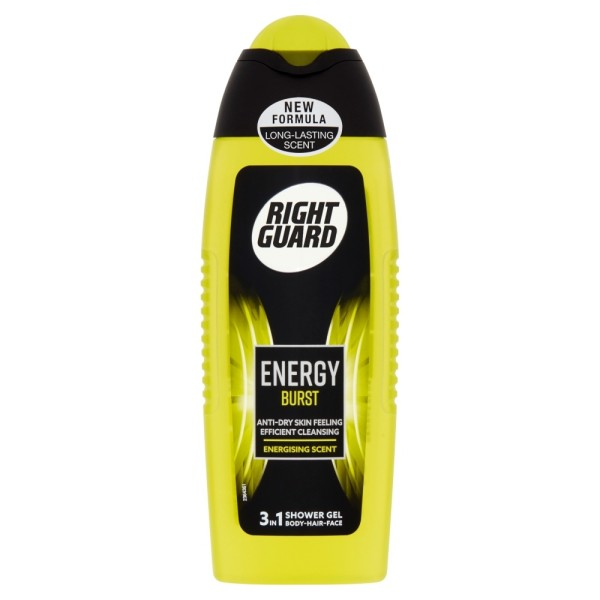 Right Guard Xtreme Energy Burst Shower Gel