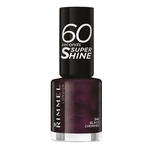Rimmel 60 Seconds Super-Shine Nail Polish Black Cherries 345