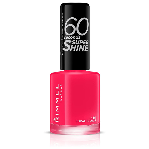 Rimmel 60 Seconds Super-Shine Nail Polish Coralicious 430