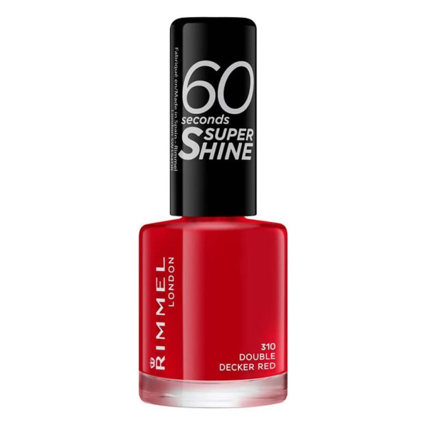 Rimmel 60 Seconds Super-Shine Nail Polish Double Decker Red 310