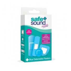 Safe & Sound 20 Blue Detectable Plasters