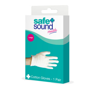 Safe & Sound Large Cotton Gloves